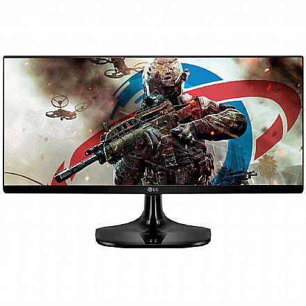 "Monitor 25"" LG Gamer 25UM58G-P - IPS Full HD UltraWide 2560x1080 - Modo Gamer - 1ms - Dynamic Action - HDMI"