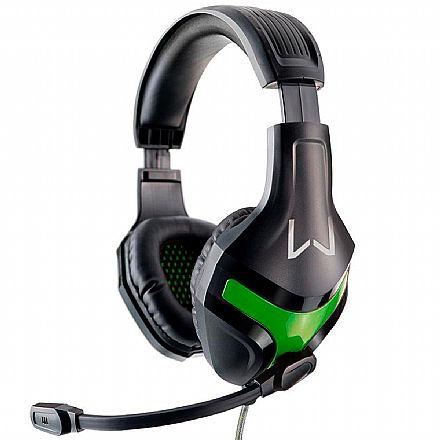 Headset Gamer Warrior Harve PH298 - Com Microfone - Conector P2 - Verde
