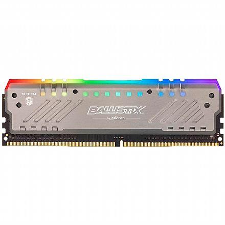 Memória 8GB DDR4 3000MHz Crucial Ballistix Tactical Tracer - RGB - 1.35V - CL16 - BLT8G4D30AET4K