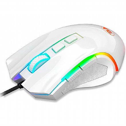 Mouse Gamer Redragon Griffin - 7200dpi - 6 Botões Programáveis - LED RGB - Lunar White - M607W