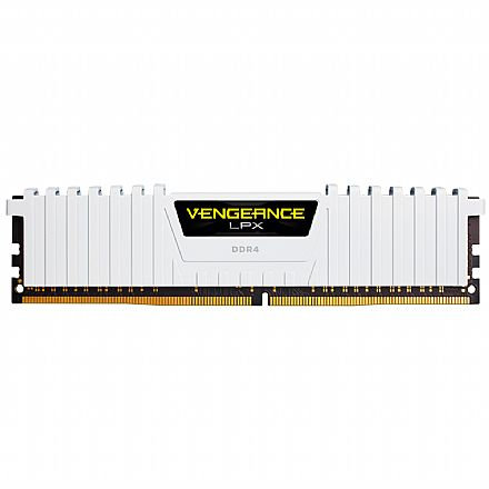 Memória 16GB DDR4 2666MHz Corsair Vengeance LPX - 1.2V - C16 - CMK64GX4M4A2666C16W