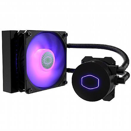 Water Cooler Cooler Master MasterLiquid ML120L - (AMD / Intel) - com LED RGB - MLW-D12M-A18PC-R2