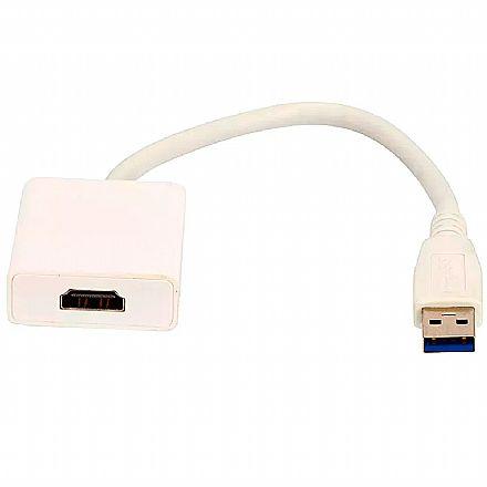 Adaptador Conversor USB para HDMI - 15cm - Chip SCE 075-0827