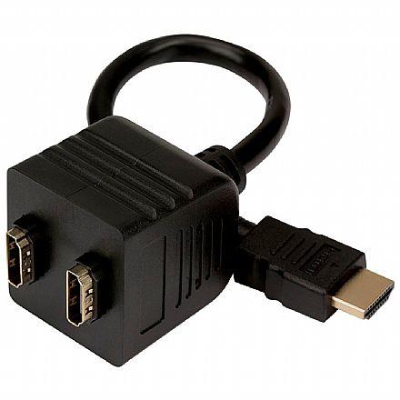 Cabo Adaptador Duplicador - HDMI Macho para 2 saídas Fêmea - Pix 018-3990