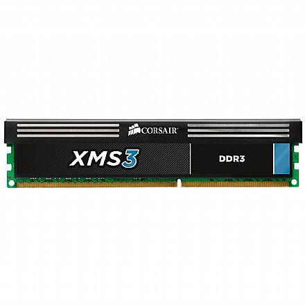 Memória 8GB DDR3 1600MHz Corsair XMS3 - 1.5V - C11 - CMX32GX3M4A1600C11