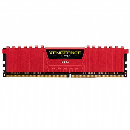 Memória 16GB DDR4 2133MHz Corsair Vengeance LPX - 1.2V - C13 - CMK64GX4M4A2133R