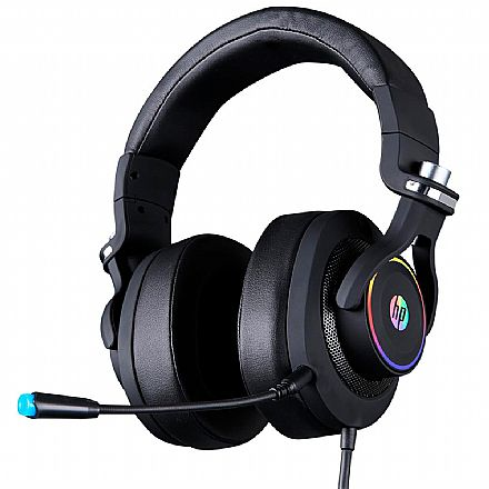 Headset Gamer HP H500GS - 7.1 Surround - LED RGB - Drivers 50mm - Conector USB