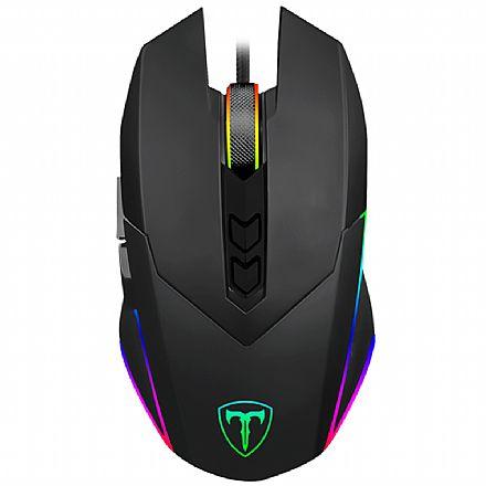 Mouse Gamer T-Dagger Lieutenant - 10.000dpi - USB - 7 Botões - LED RGB - 1ms - T-TGM301