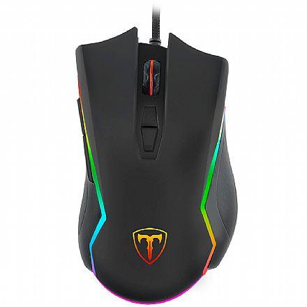 Mouse Gamer T-Dagger Second Lieutenant - 8000dpi - USB - 7 Botões - LED RGB - 1ms - T-TGM300