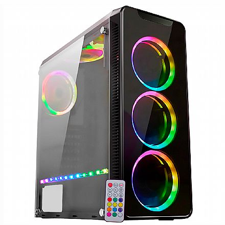 PC Gamer Ryzen 3700X - Asus Prime B450M GAMING/BR, 16GB DDR4 (2x8GB), SSD 240GB, HD RX 5600 XT