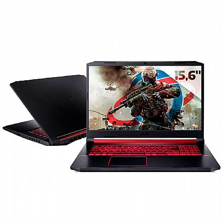 "Notebook Acer Aspire Nitro 5 AN517-51-50JS Gamer - Tela 17.3"" IPS Full HD, Intel i5 9300H, 8GB, SSD 512GB, GeForce GTX 1650 - Endless OS"