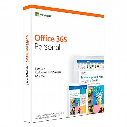 Microsoft Office 365 Personal - Licença Anual para 1 usuário - 1 TB de Armazenamento One Drive - 1 PC ou Mac + 1 Tablet ou Smartphone - QQ2-01017