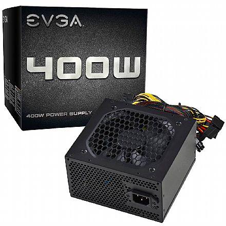 Fonte 400W EVGA Standard - Eficiência 75% - Fan Bearing - 100-N1-0400-L0