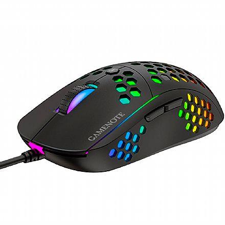 Mouse Gamer Havit MS878 - 10000dpi - 7 Botões - USB - com LED RGB - Preto - HV-MS878