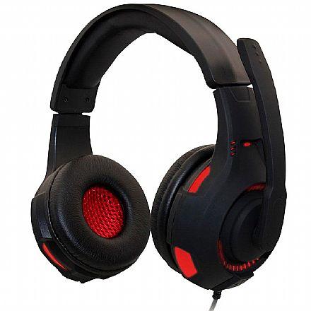 Headset Gamer Havit Magic Eagle H2213D - LED Vermelho - Conector P2 e USB - com Microfone - HV-H2213D