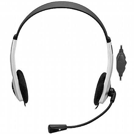 Headset Fortrek HBL 101 - com Controle de Volume e Microfone - Conector P2 - 62887
