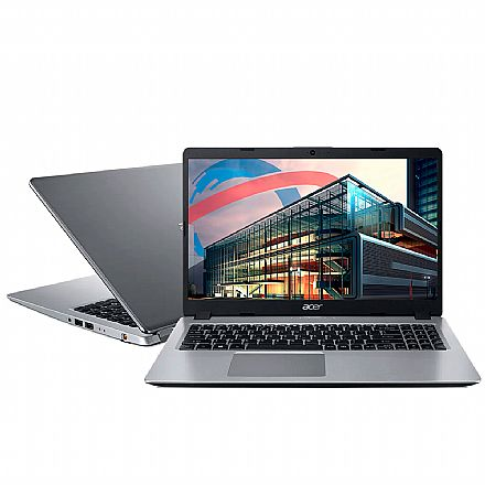 "Notebook Acer Aspire A515-54G-539Z - Tela 15.6"", Intel i5 10210U, 12GB, SSD 128GB + HD 1TB, GeForce MX250, Endless OS"