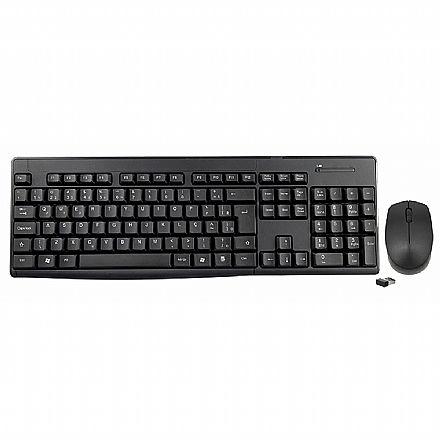 Kit Teclado e Mouse sem Fio K-Mex - ABNT2 - 1200dpi - KA-S229/MA-A733