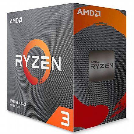 AMD Ryzen 3 3100 Quad Core - 3.6GHz (Turbo 3.9GHz) - Cache 18MB - AM4 - TDP 65W - 100-100000284BOX