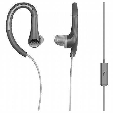 Fone de Ouvido Motorola Earbuds Sports SH008 - Intra-Auricular - com Microfone - Preto