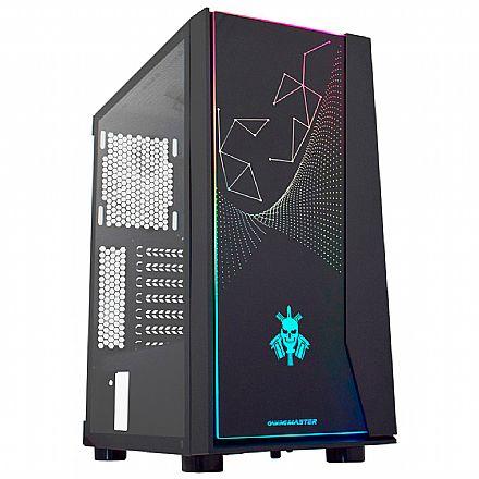 Gabinete Gamer K-Mex BOPE - Painel RGB Frontal - Lateral em Vidro - Suporta Water Cooler - CG-20RX