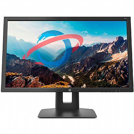 """Monitor 21.5"""" HP V22B - Full HD IPS - Regulagem de Altura, Rotação 90° e Inclinação - HDMI/DisplayPort/VGA"""