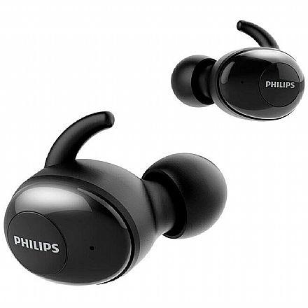 Fone de Ouvido Bluetooth Earbud Philips SHB2515BK/10 - com Microfone - com Case Carregador - Preto