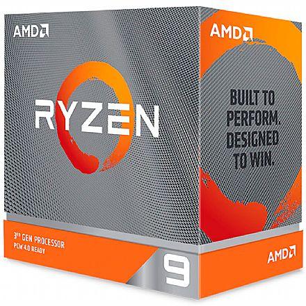AMD Ryzen™ 9 3900XT 12 Core - 24 Threads - 3.8GHz (Turbo 4.7GHz) - Cache 70MB - AM4 - TDP 105W - 100-100000277WOF - sem gráfico integrado