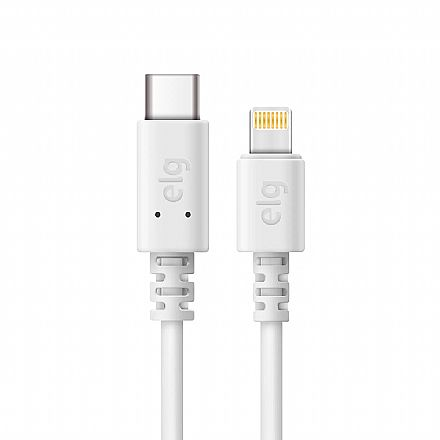 Cabo Lightning para USB-C - 1 metro - Branco - ELG TCL10