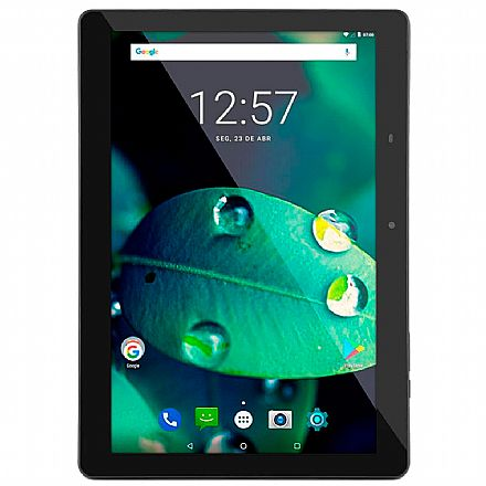 """Tablet Multilaser M10A - Tela 10"""", Quad Core 1.3GHz, 32GB, WiFi + 3G, Android 9.0 - Preto - NB318"""