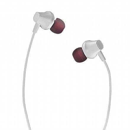 Fone de Ouvido Intra-Auricular Multilaser Pulse - Conector P2 - Branco - PH331