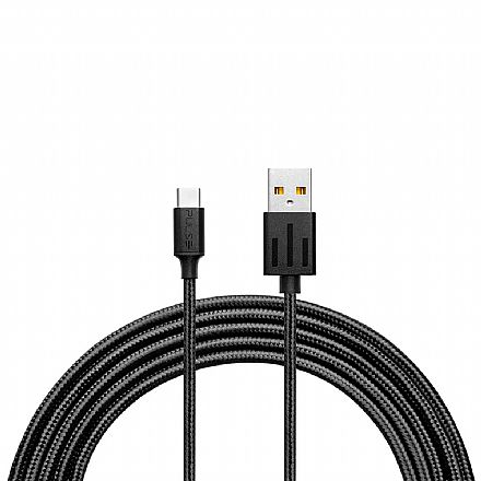 Cabo USB-C para USB - 1.5 Metro - Acabamento Premium - Preto - Multilaser Pulse WI413