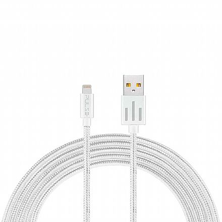Cabo Lightning para USB - Iphone MFI - 1.5 Metro - Acabamento Premium - Branco - Multilaser Pulse WI414