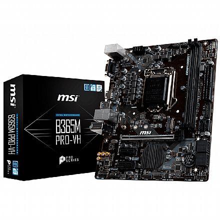 MSI B365M PRO-VH (LGA 1151 - DDR4 2666) - Chipset Intel B365 - USB 3.1 - Slot M.2 - Micro ATX