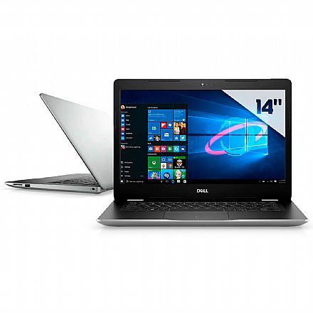 "Notebook Dell Inspiron i14-3480-A11S - Tela 14"", Intel Pentium Gold, 8GB, SSD 128GB, Windows 10 - Prata - Outlet"