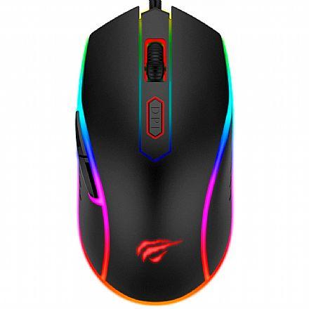 Mouse Gamer Havit MS792 - 3200dpi - 6 Botões - RGB - HV-MS792