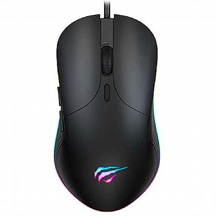 Mouse Gamer Havit MS1020 - 4200dpi - 7 Botões - RGB - HV-MS1020