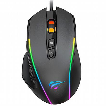 Mouse Gamer Havit MS1011 - 7200dpi - 8 Botões - RGB - HV-MS1011