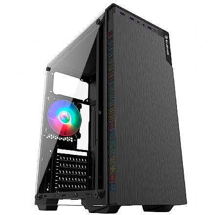 Gabinete Gamer Bluecase BG-030 - Lateral em Vidro - USB 3.0 - Mid Tower