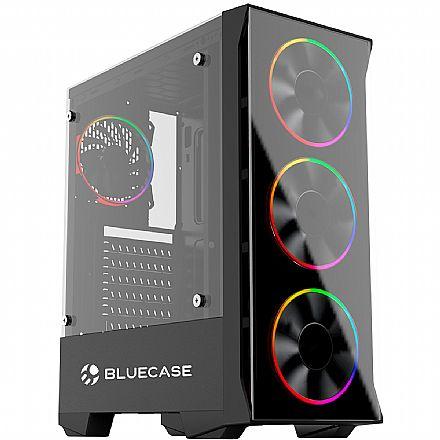 Gabinete Gamer Bluecase BG-036 - Lateral e Frontal em Vidro - USB 3.0 - Mid Tower