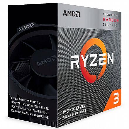 AMD Ryzen 3 3200G Quad Core - 4 Threads - 3.6GHz (Turbo 4.0GHz) - Cache 6Mb - AM4 - Radeon RX Vega 8 - YD3200C5FHTRAY