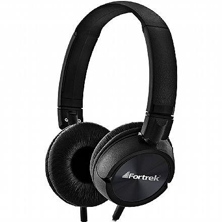Fone de Ouvido Fortrek HMF-501 - com Microfone - Conector P2 - Preto - 60992