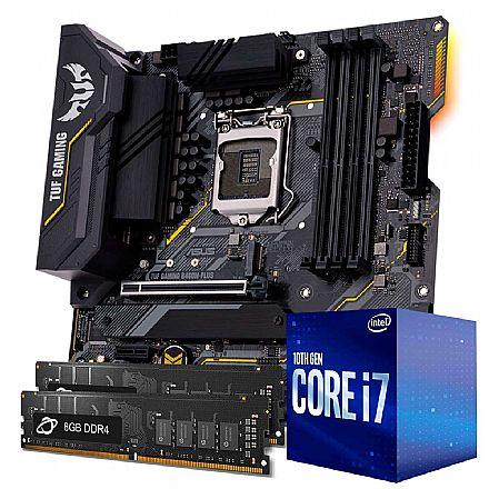 Kit Upgrade Intel® Core™ 7 10700F + Asus TUF B460M PLUS GAMING/BR + Memória 16GB DDR4 (2x8GB)