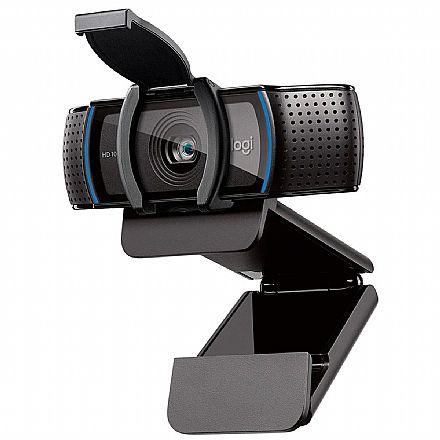Web Câmera Logitech C920S HD Pro - Videochamada e Gravações em Full HD - Microfone duplo Estéreo - 960-001257