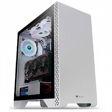 Gabinete Thermaltake S300 TG - Lateral em Vidro Temperado - USB 3.0 - Mid Tower - Micro ATX - Branco - CA-1P5-00M6WN-00