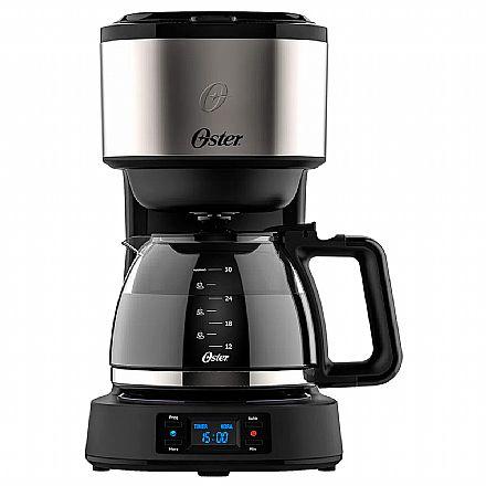 Cafeteira Digital Oster Day Light - 110V - Timer Programável - 30 Cafezinhos - Filtro Permanente Removível - OCAF500 - Liquidação produto com avarias