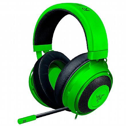 Headset Gamer Razer Kraken - para Console e PC - Conector P2 - Verde - RZ04-02830200-R3U1