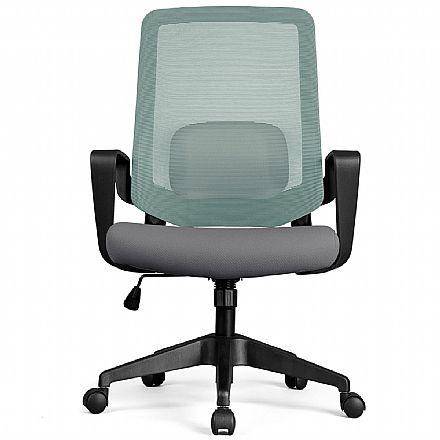 Cadeira de Escritório DT3 Office Verana V2 - Verde e Cinza - 12074-4