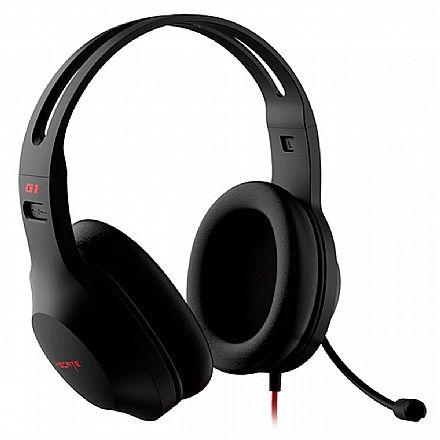 Headset Gamer Edifier G1 SE - Adaptador P3 para P2 - com Controle de Volume - Preto - G1SE-BK