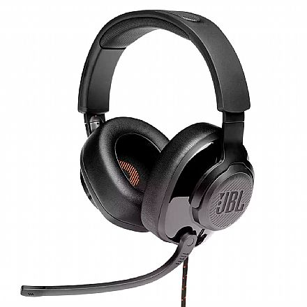 Headset Gamer JBL Quantum 300 - para Console e PC - Conector P2 e USB - Preto - JBLQUANTUM300BLK